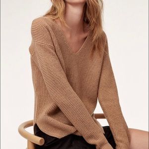 Wilfred wolter sweater sz xs in camel